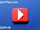 Origami Play Icon