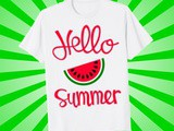 Cool Summer Shirt with Watermelon: Hello Summer