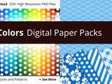 New collection of digital papers with beautiful patterns in 250 colors